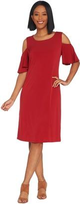 Belle By Kim Gravel Belle by Kim Gravel Flirt Sleeve Cold Shoulder Dress