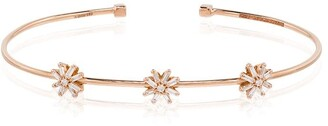 Suzanne Kalan 18kt Rose Gold Diamond Flower Bracelet