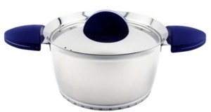 "Berghoff Stacca Stainless Steel 7"" Covered Casserole, Blue"