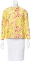 Carven Linen Abstract Print Top
