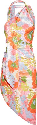 Ronny Kobo Zoey Floral Asymmetrical Mini Dress