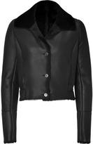 Jil Sander Navy Black Cropped Montone Lamb Jacket
