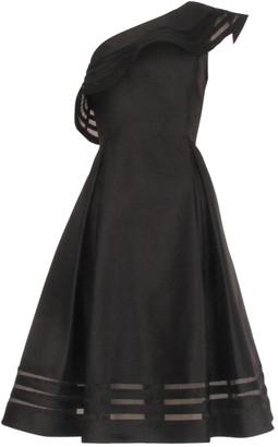 Adrianna Papell Mikado Organza Dress