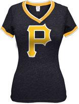 5th & Ocean Women's Pittsburgh Pirates Triple Flock T-Shirt