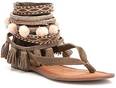 Naughty Monkey Adriana Tassled Pom Pom Sandals
