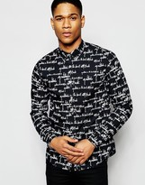 Izzue Shirt With Contrast Collar In Regular Fit