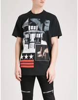 Givenchy La-print Cotton-jersey T-shirt
