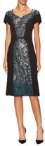 Carolina Herrera Silk Lace Dress