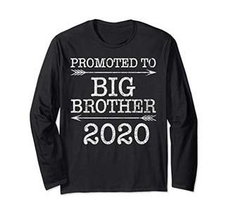 Cute Vintage Arrow Funny Promoted To Big Brother Est 2020 Long Sleeve T-Shirt