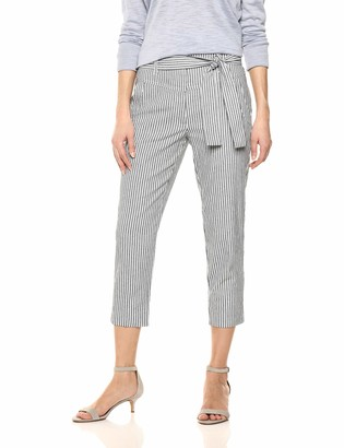 BCBGeneration Women's Railroad Stripe Cropped Pant