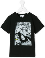 DKNY spray paint T-shirt - kids - Cotton/Elastodiene - 6 yrs