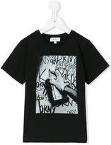 DKNY spray paint T-shirt