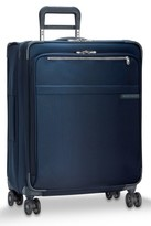 Briggs & Riley Men's Baseline 25 Inch Expandable Rolling Suitcase - Blue