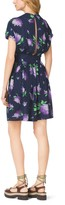Michael Kors Lilac-Print Silk-Georgette Flirt Dress