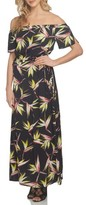 1 STATE Women's 1.state Off The Shoulder Blouson Maxi Dress