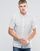NATIVE YOUTH Polka Dot Short Sleeve Shirt