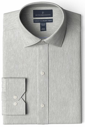 Buttoned Down Amazon Brand Men's Tailored-Fit Spread Collar Pinpoint Non-Iron Dress Shirt