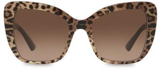 Dolce & Gabbana 54MM Cat Eye Leopard Sunglasses