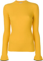 Emilio Pucci ribbed slim-fit jumper - women - Polyester/Viscose - XS