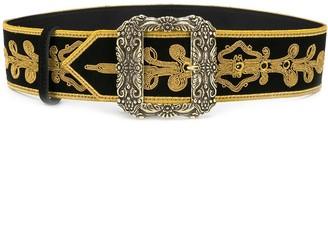 Etro brocade embroidered belt