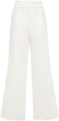 Frame Metropolitan Linen And Cotton-blend Wide-leg Pants