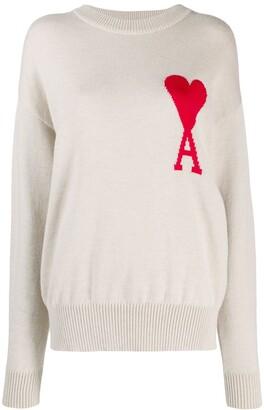 Ami Paris de Coeur knitted jumper