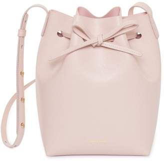 Mansur Gavriel Saffiano Mini Bucket Bag - Rosa