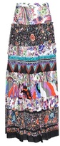 Roberto Cavalli Printed Cotton Skirt