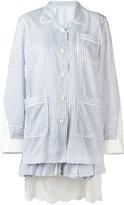 Sacai layered pyjama-style dress - women - Cupro/Cotton/Nylon/Rayon - 1