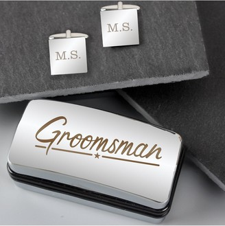 Personalised Wedding Cufflinks and Box Set