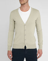 M.STUDIO Damien sand cardigan in cotton jersey