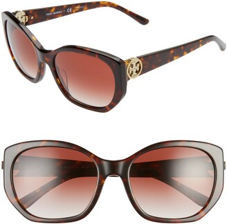 Tory Burch 55mm Polarized Cat Eye Sunglasses