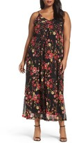 Sejour Plus Size Women's Print Maxi Slipdress