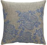 """Ariella 12"""" Pillow with Feather-Down Insert"""
