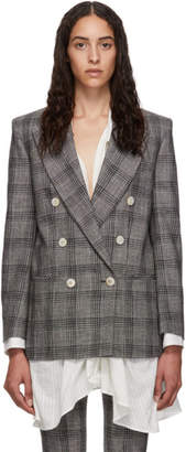 Isabel Marant Black and White Check Dallin Blazer