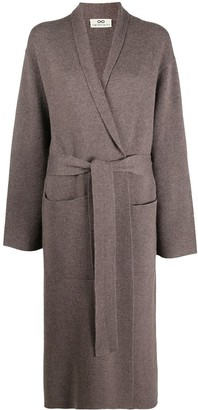 Sminfinity Long-Line Belted Cardigan
