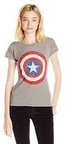 Marvel Junior's Distressed Captain America Graphic Tee