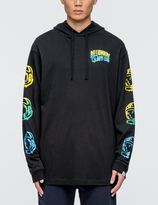 Billionaire Boys Club Helmet Print Hooded L/S T-Shirt