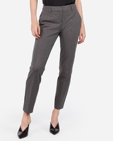Express Mid Rise Pinstripe Columnist Ankle Pant
