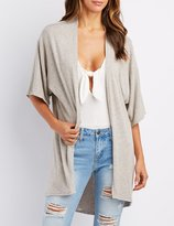 Charlotte Russe Hacci Knit Open-Front Cardigan