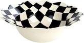 Mackenzie Childs Courtly Check Petal Serving Bowl