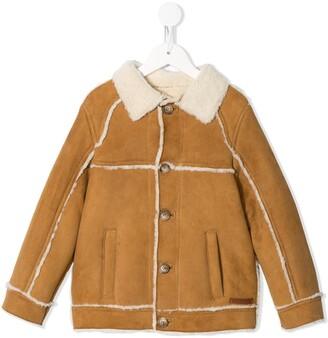 Dolce & Gabbana Kids Button-Up Shearling Jacket