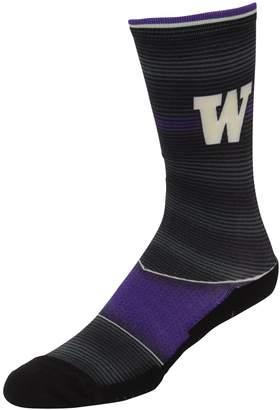 E.m. Unbranded Men's Rock Socks Washington Huskies Hyper Stripe Socks