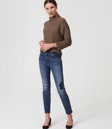 LOFT Petite Modern Patchwork Skinny Jeans in Indigo Wash