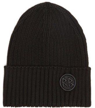 Ruslan Baginskiy Logo-embroidered Wool-blend Beanie Hat - Black