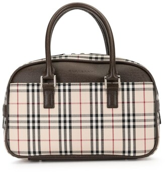 Burberry Pre-Owned Check Print Tote Bag