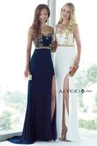 Alyce Paris - 6361 Prom Dress in Navy Gold