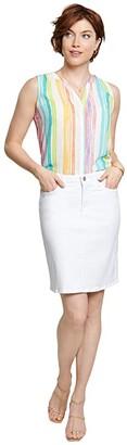NYDJ Denim Skirt in Optic White (Optic White) Women's Skirt
