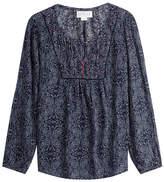 Velvet Printed Tunic Blouse