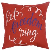 Threshold Let Freedom Ring Embroidered Outdoor Pillow 18